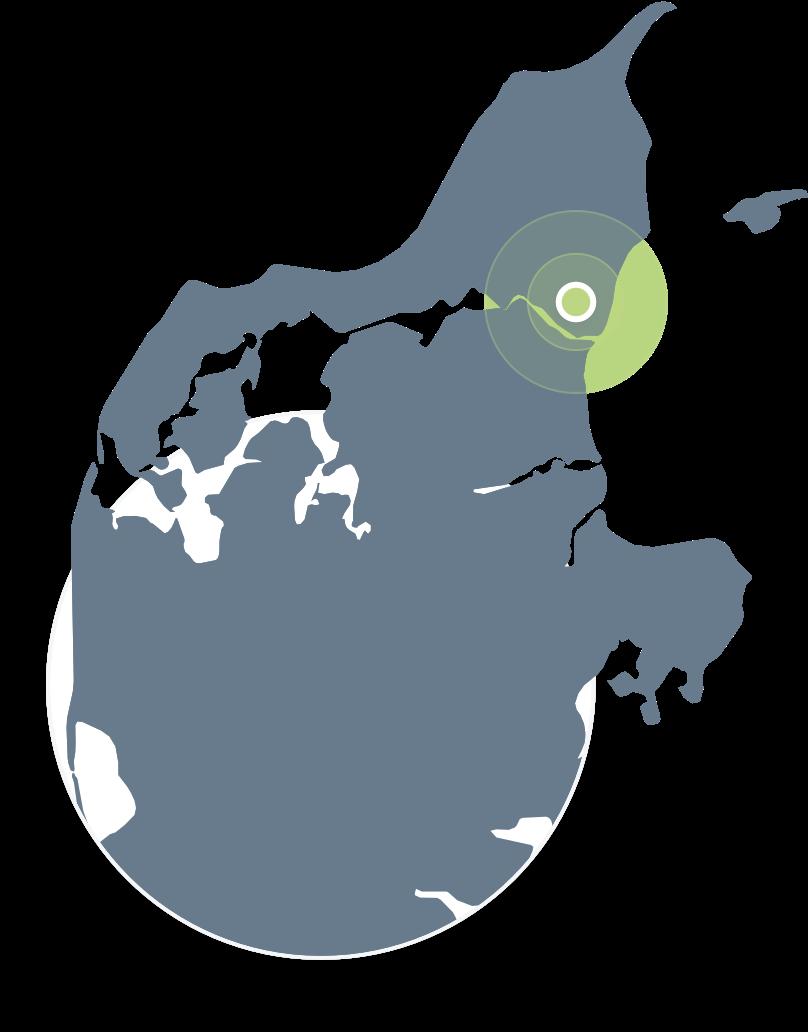 Forsimplet kort over jylland med fokus på Hals